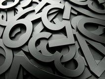 Numeri grigi di struttura del metallo Immagine Stock Libera da Diritti