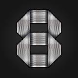 Numeri il nastro del cromo del metallo - 8 - otto illustrazione di stock