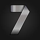 Numeri il nastro del cromo del metallo - 7 - sette royalty illustrazione gratis