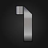 Numeri il nastro del cromo del metallo - 1 - uno royalty illustrazione gratis