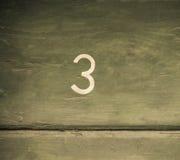 Numeri le presidenze di spiaggia 3 Immagine Stock
