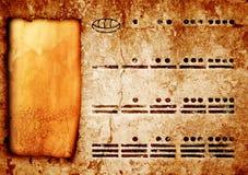 Numeri Mayan Fotografia Stock Libera da Diritti