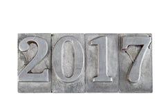 2017 numeri metallici Fotografia Stock