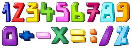Numeri multicolori Fotografie Stock