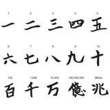 Numeri nei caratteri cinesi Fotografia Stock