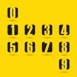 Numeri neri fissati Illustrazione di vettore Fotografia Stock
