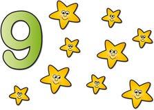Numeri: nove royalty illustrazione gratis