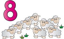 Numeri: otto illustrazione di stock