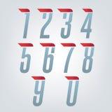 Numeri precisi di velocità Fotografia Stock