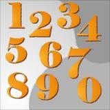 Numeri progettati Fotografia Stock