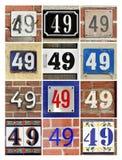 Numeri quarantanove Fotografie Stock