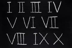 Numeri romani. Fotografia Stock