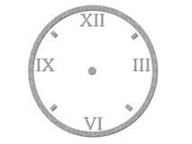 Numeri romani sul fronte di orologio Immagini Stock