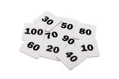Numeri rotondi isolati sopra bianco Fotografia Stock