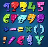 Numeri scintillanti illustrazione vettoriale
