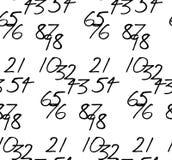 Numeri scritti a mano Tessellated Immagini Stock