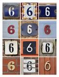 Numeri sei Fotografie Stock Libere da Diritti