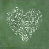Numeri semplici a forma di del cuore illustrazione di stock