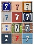 Numeri sette Fotografia Stock Libera da Diritti