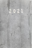 Numeri su fondo & su x28; una copertura di calendar& 2021 x29; Fotografie Stock Libere da Diritti