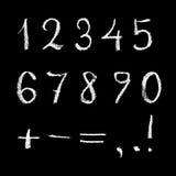 Numeri sulla lavagna Immagini Stock Libere da Diritti