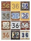 Numeri trentasei Fotografie Stock
