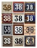 Numeri trentotto Fotografie Stock