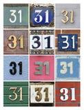 Numeri trentuno Immagine Stock Libera da Diritti