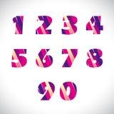 Numeri uno - lettera nove illustrazione vettoriale