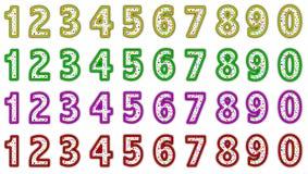 Numeri variopinti Fotografia Stock Libera da Diritti