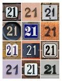 Numeri ventuno Immagini Stock Libere da Diritti