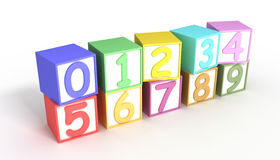 Numeric Baby Blocks Royalty Free Stock Photography