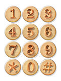 Numeric button Stock Photo