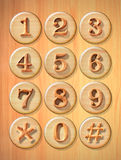 Numeric button Stock Photography