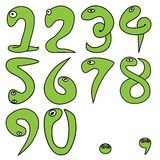 Numeric cartoon 1-9 with period and comma Royalty Free Stock Photos