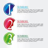 Numeric coins Stock Photography