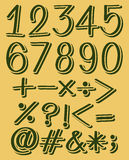 Numeric figures in green color Stock Images