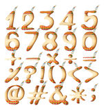 Numeric figures in Indian artwork Stock Image