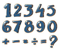 Numeric figures and mathematical operations Royalty Free Stock Image
