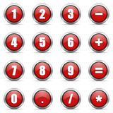 Numeric icons set Royalty Free Stock Photography