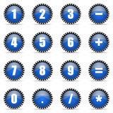 Numeric icons set Stock Images