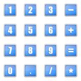 Numeric icons set Royalty Free Stock Image