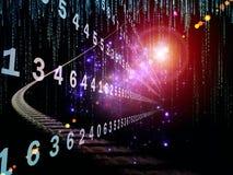 Numeric Information Stream Stock Image