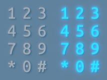 Numeric keyboard glow Stock Photos