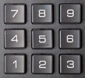 Numeric keypad. The new black numeric keypad electronic Royalty Free Stock Image