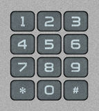 Numeric Keypad. Bitmap Realistic Illustration Royalty Free Stock Photography