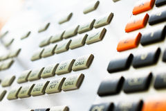 Numeric keypad CNC machine Royalty Free Stock Photo