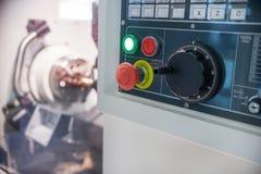 Numeric keypad CNC machine. Control panel. Shallow depth of field Stock Images