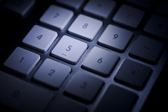 Numeric keypad detail dark Royalty Free Stock Photography