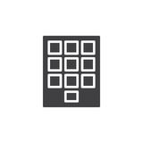 Numeric keypad icon vector, filled flat sign, solid pictogram isolated on white Royalty Free Stock Images